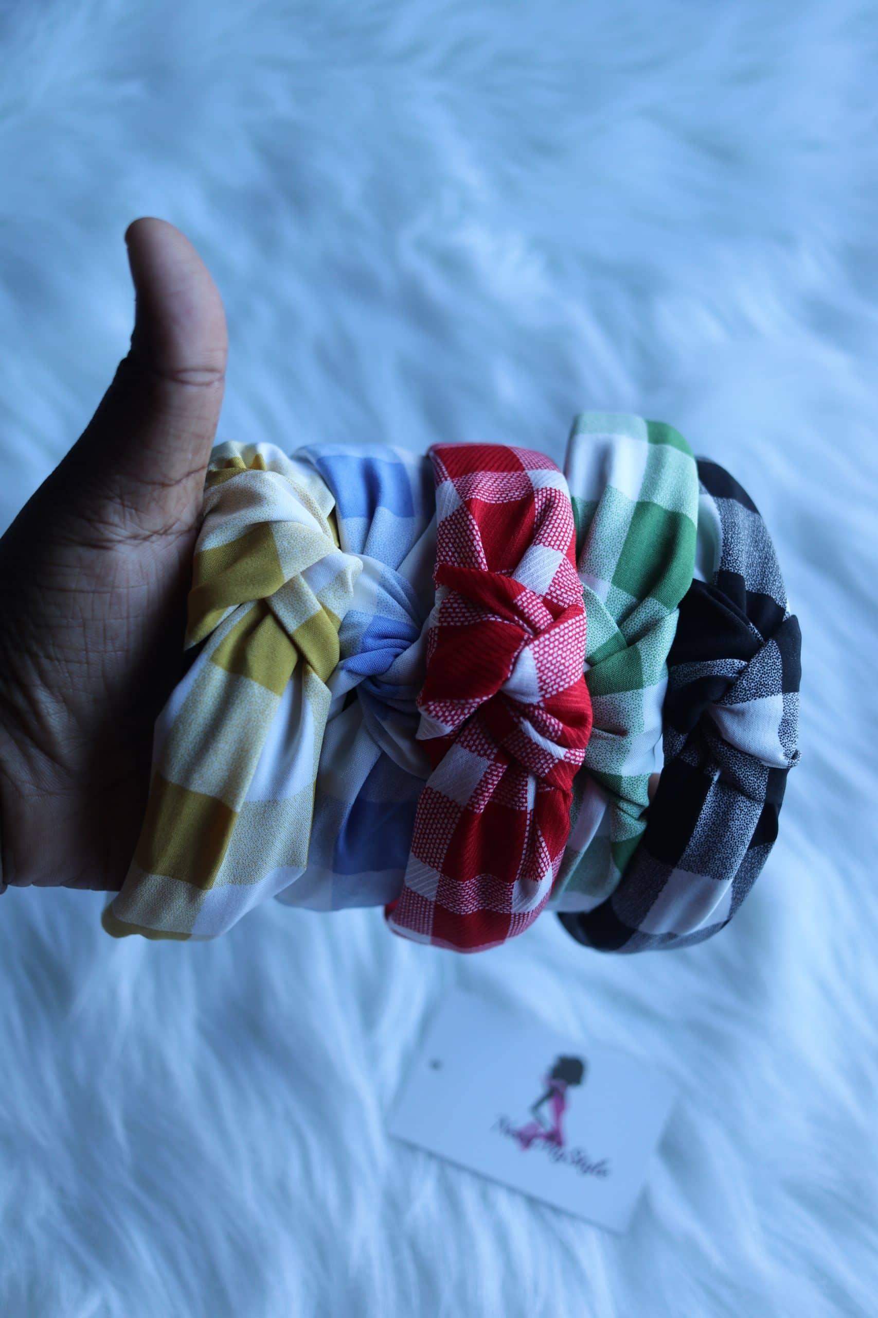 Checker Knot Headband